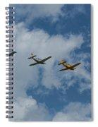 Beechcraft T-34 Mentor Airplane Trio 3 Spiral Notebook