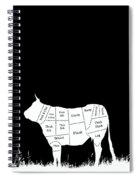 Beef Cuts Shown On The Side Of A Cow.  Spiral Notebook