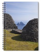 Beehive Stone Huts, Skellig Michael, County Kerry, Ireland Spiral Notebook