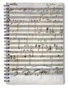Beethoven Manuscript Spiral Notebook
