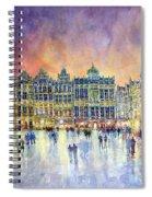 Belgium Brussel Grand Place Grote Markt Spiral Notebook