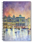 Belgium Brussel Grand Place Grote Markt Spiral Notebook