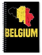 Belgium Flag Apparel Spiral Notebook