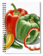 Bell Peppers Jalapeno Spiral Notebook