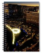 Bellagio Hotel Fountain, Las Vegas Spiral Notebook