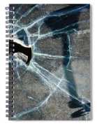 Belmont Cracked Window And Shadow 1599 Spiral Notebook