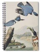 Belted Kingfisher Spiral Notebook
