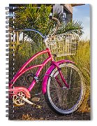 Bicycle At The Beach II Spiral Notebook