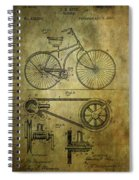 Bicycle Patent From 1890 Spiral Notebook