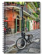 Bike And Lamppost In Pirate's Alley Spiral Notebook