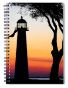 Biloxi Lighthouse At Dusk Spiral Notebook