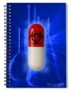 Biohazard Symbol On Capsule Spiral Notebook