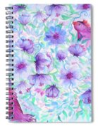 Bird And Flowers Spiral Notebook