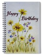 Birthday Card Spiral Notebook