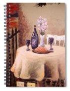 Bistro Mural Detail 3 Spiral Notebook