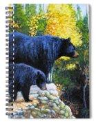 Black Bear And Cub Spiral Notebook