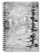 Black Gray Abstract Spiral Notebook