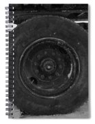 Black Wheel Spiral Notebook