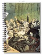 Blaine Cartoon, 1884 Spiral Notebook
