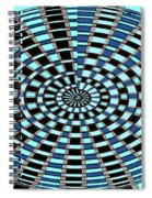 Blue And Black Abstract Spiral Notebook