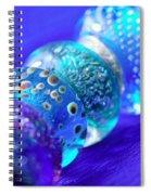 Blue Beads 2 Spiral Notebook
