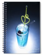 Blue Curacao Cocktail Drink With Cherry Spiral Notebook