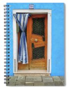 Blue In Burano Spiral Notebook