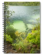 Blue Lake Stradbroke Island Spiral Notebook