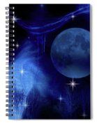 Blue Moon Spiral Notebook