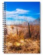 Blue Sky Over The Dunes Spiral Notebook