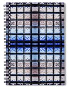 Blue Toned Glass Brick Window Abstract  Spiral Notebook