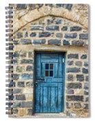 Blue Traditional Door Spiral Notebook