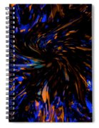 Blue Wormhole Nebula Spiral Notebook