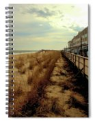 Boardwalk In Winter Spiral Notebook