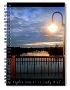 Boat, Lights, Sunset On Lady Bird Lake Spiral Notebook