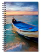 Boat On Beach Spiral Notebook