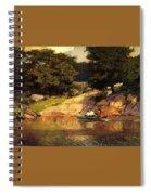 Boating In Central Park Edward Henry Potthast Spiral Notebook