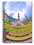 Bolzano Main Square Planet Perspective Panorama Spiral Notebook