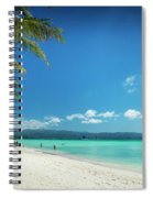 Boracay Island Tropical Coast Landscape In Philippines Spiral Notebook