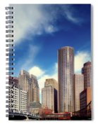 Boston Skyline 1980s Spiral Notebook