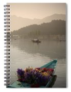 Bouquet Of Flowers In Bow Of Boat Dal Spiral Notebook