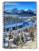 Bow Valley Winter View Spiral Notebook