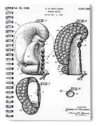 Boxing Glove Patent 1944 Spiral Notebook