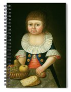 Boy With A Basket Of Fruit Spiral Notebook
