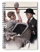 Boy With Baby Carriage Spiral Notebook