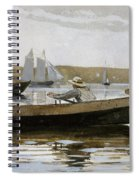 Boys In A Dory, 1873  Spiral Notebook