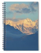 Breathtaking Landscape Of The Dolomites Mountains In Italy  Spiral Notebook