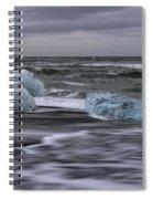 Brethamerkursandur Iceberg Beach Iceland 2155 Spiral Notebook