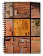 Bricks Collage  Spiral Notebook