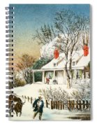 Bringing Home The Logs Spiral Notebook
